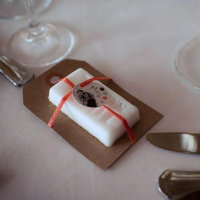 faire-part mariage personnalisé corail vert d'eau photomaton moustache bilingue