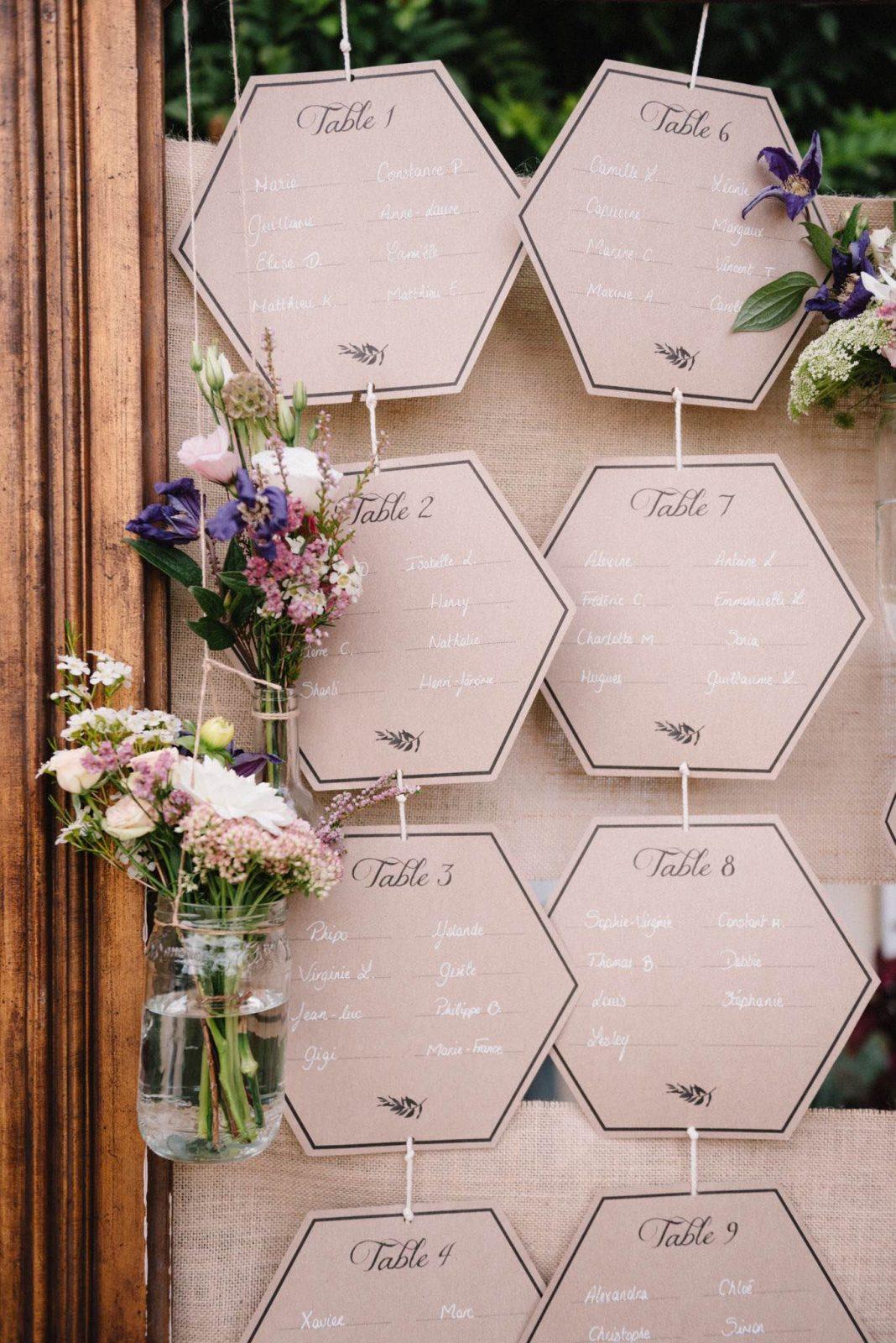 chloe-lapeyssonnie-photographe-faire-part-mariage-personnalise-jaune-bleu-kraft-triangle-hexagone2