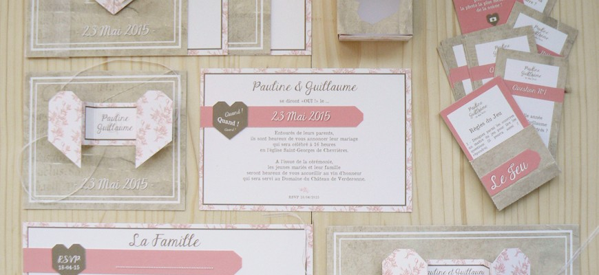 Pauline & Guillaume : Mariage au Domaine du Château de Verderonne – origami / pliage