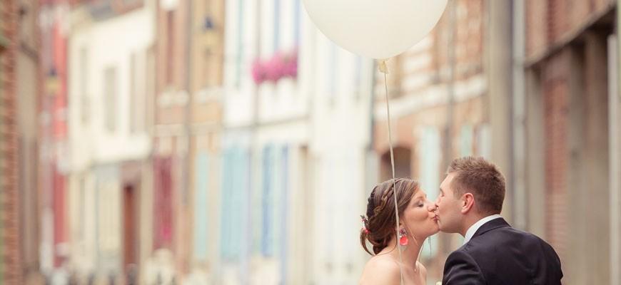 Un mariage pétillant aux Granges du Bel Air / Faire-part bilingue