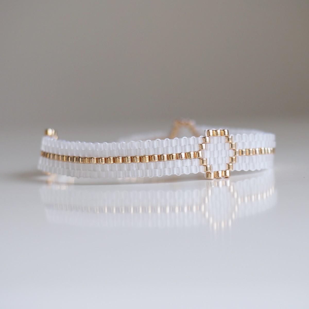 Apache helene ripoll bijoux papeterie de mariage - Bracelet perle et ruban ...