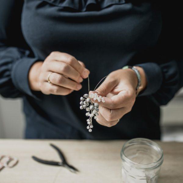 creation de bijoux de mariage faits main