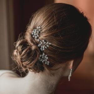 epingle à chignon pour coiffure de mariage avec perles et graines