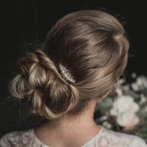 peigne de mariage petit en perles, strass et cristal